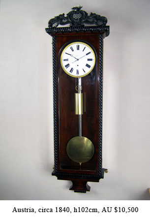 biedermeier regulator wall clock