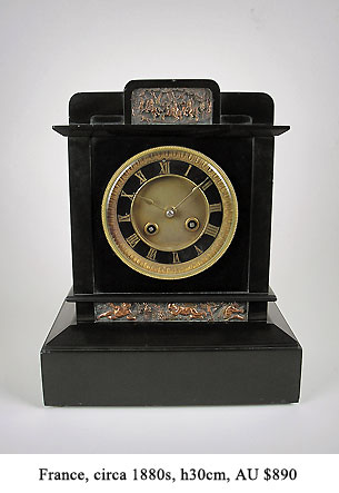 french slate mantel clock
