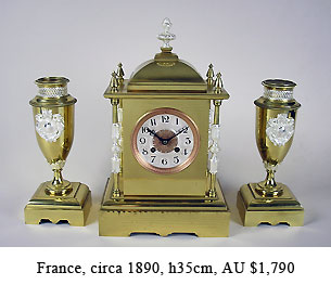 chogin garniture clock set