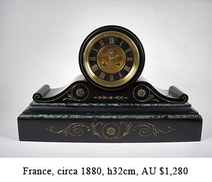 french drumhead mantel clock
