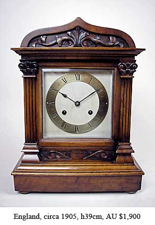 edwardian bracket clock
