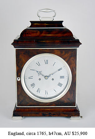 king george bracket clock