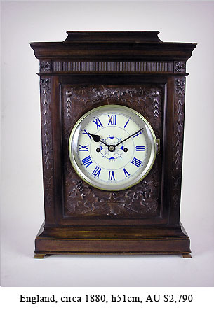 english double fusee bracket clock