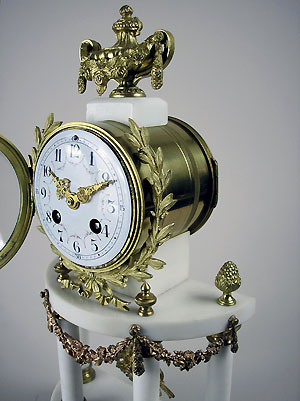freres marble clock