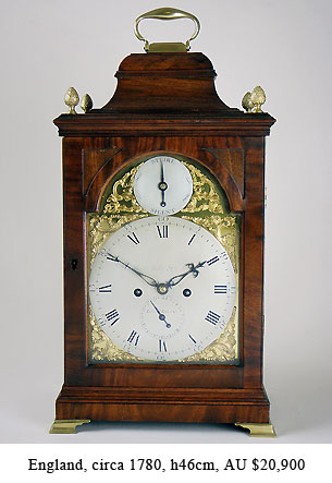 georgian bracket clock