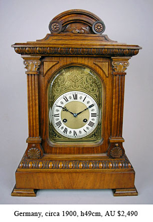 german bracket clock