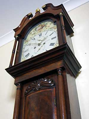 buy mahogany longcase clock