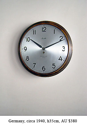 mauthe dial wall clock