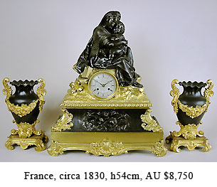 louis-phillipp bronze clock set